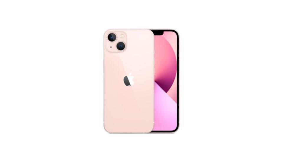 صورة هاتف أبل ايفون 13 باللون الوردي (iPhone 13)