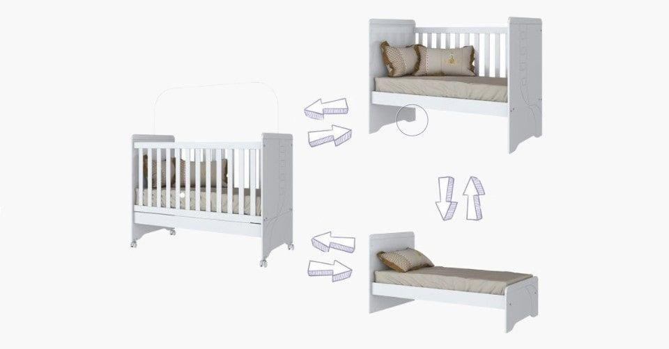 سرير الأطفال هوم بوكس كودي 3 في 1 القابل للتحويل