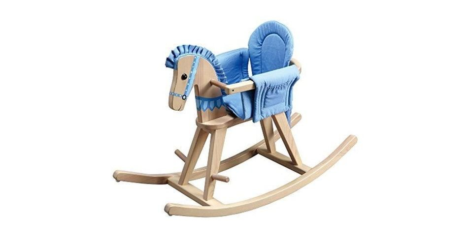 لعبة حصان متأرجح مع مقعد آمن