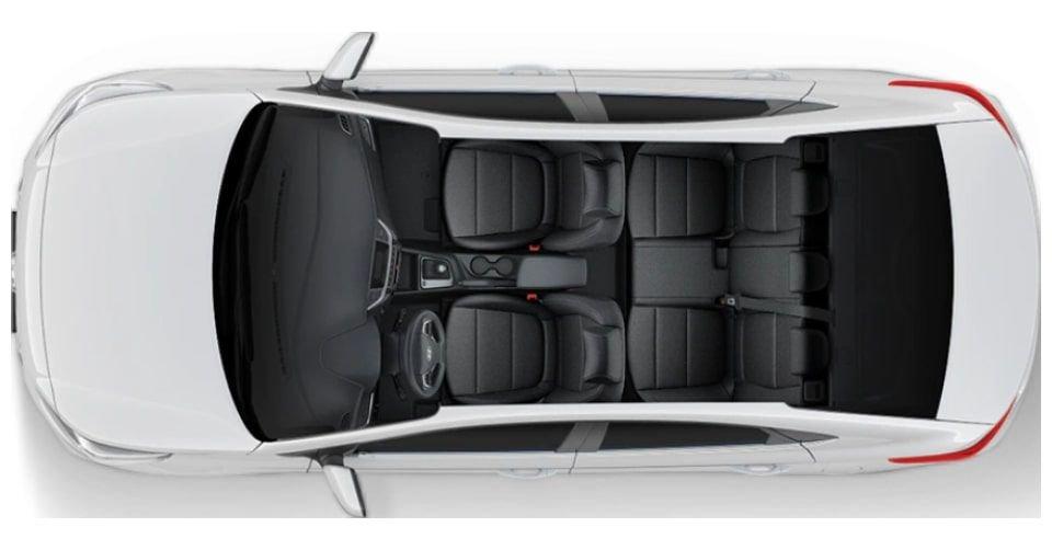 صورة التصميم الداخلي لسيارة هيونداي أكسنت 2022