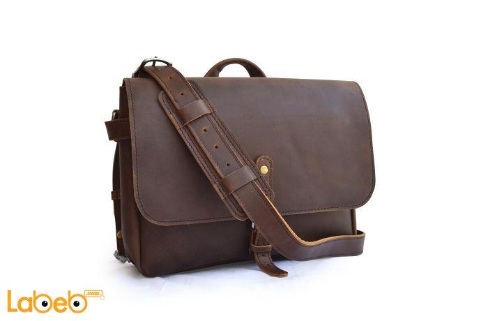 صورة حقيبة لابتوب جلد طبيعي