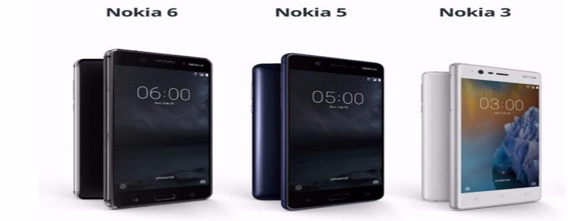 ما هي مواصفات هواتف نوكيا الجديدة 3 و5 و6
