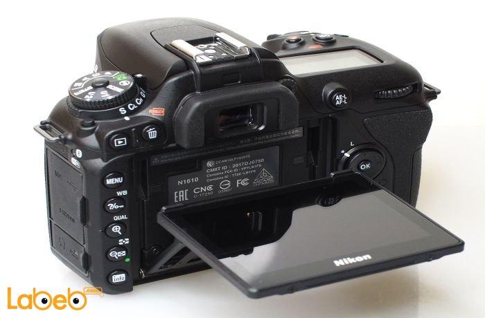 كاميرا نيكون دي7500 من الخلف