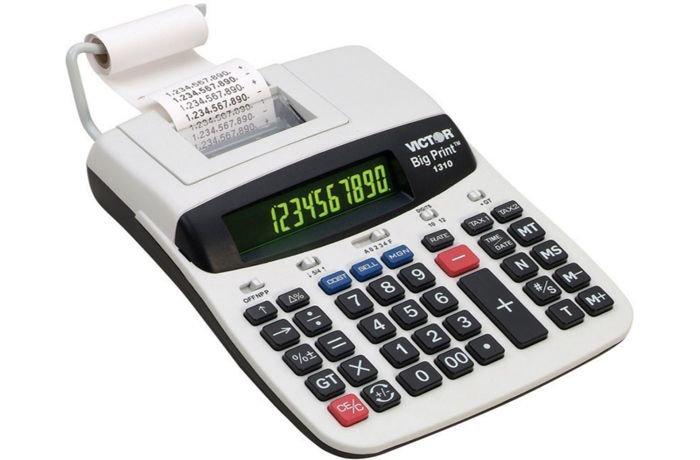 الآلة الحاسبة مع خاصية الطباعة