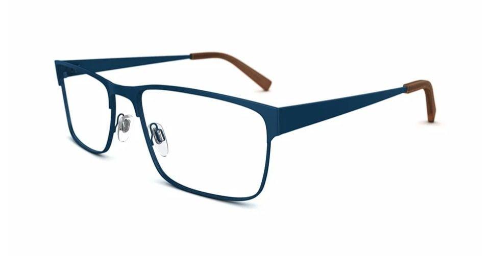 نظارة مربعة ذات حواف منحنية