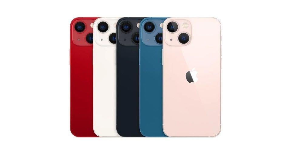 صورة ألوان هاتف آيفون 13 ميني