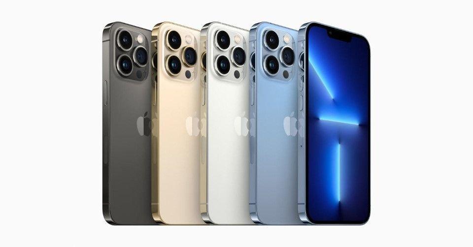 صورة توضح ألوان هاتف آيفون 13 برو