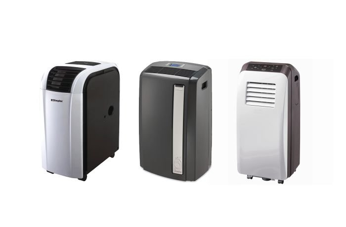 Different models of evaporative coolers
