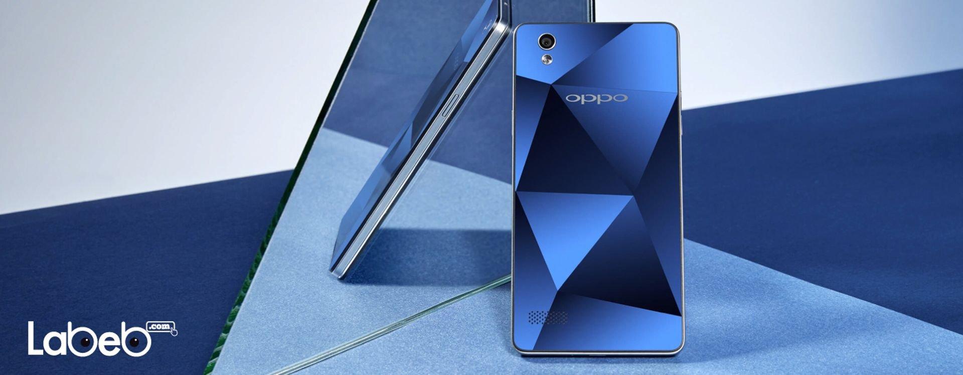 ما يميّز هواتف أوبو ميرور 5 هو تصميم الغطاء الخلفي، الذي يشعرك لوهلة أنك تنظر إلى جوهرة من الألماس