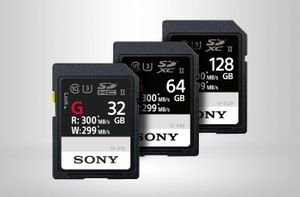 New Sony SD Cards SF-G