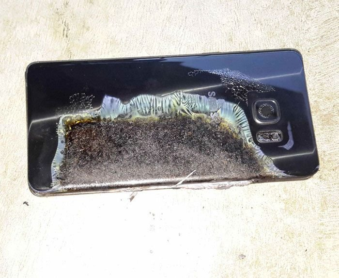 Note 7's battery explosion