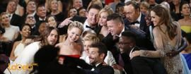 Selfie of Famous Actors during the 86th Oscars.