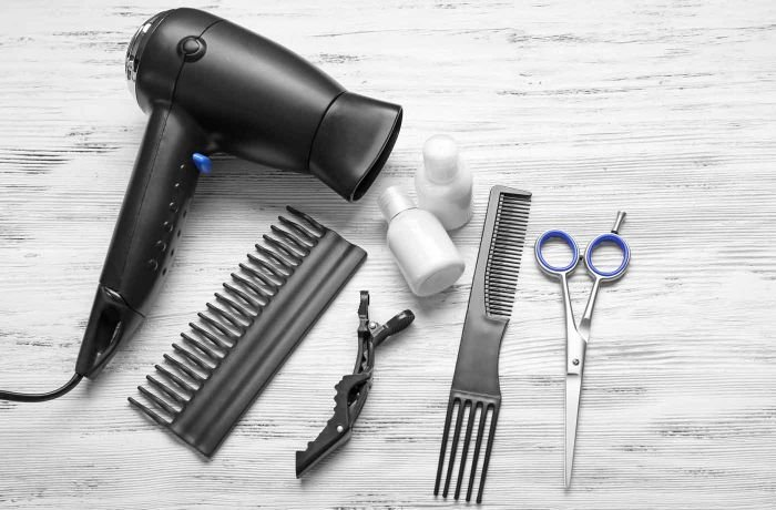 Plastic hair dryer