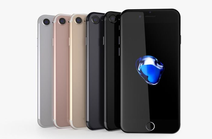 All colors of iPhone 7