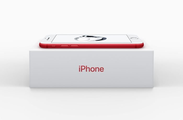 iPhone 7's red color box