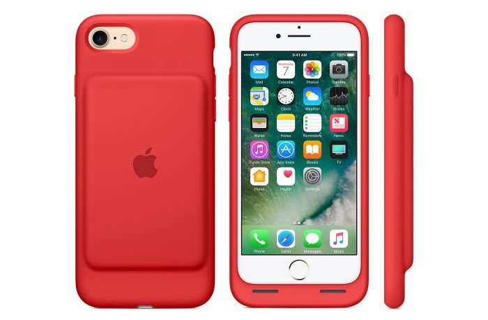 Apple 6s red cover with additional battery.