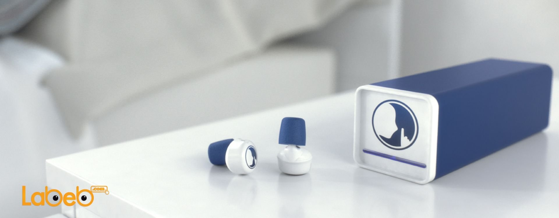 Hush earplugs, noise reduction and morning alarm.