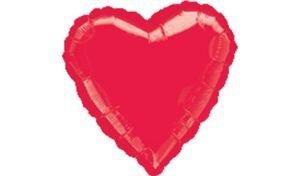 """بالون 18"""" قلب احمر"""