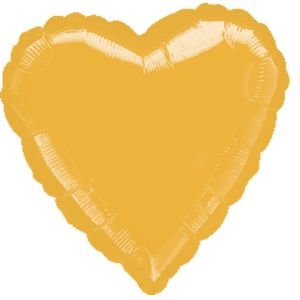 """بالون 18"""" قلب ذهبي"""