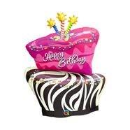 בלון מיילרq36 עוגת יום הולדת זברה שתי קומות - 1 יח