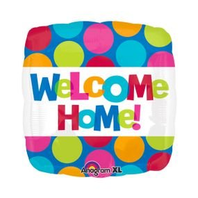 """بالون 18"""" welcome مربع"""
