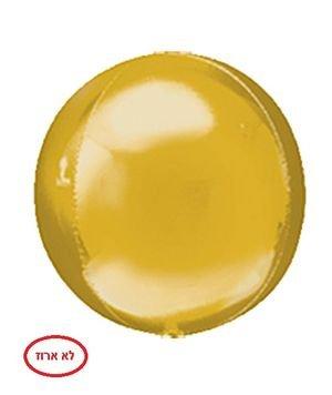 """بالون 15"""" فقاعه ثلاثي الابعاد ذهبي"""
