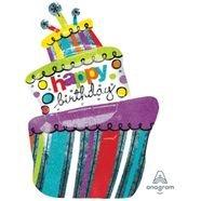 בלון מיילר 26- יום הולדתhbdצורת עוגה