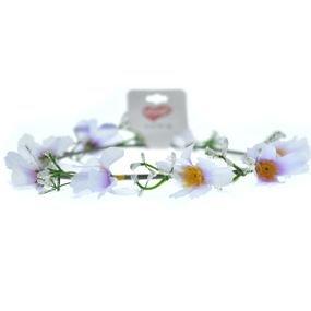 זר יום הולדת לראש עם פרחים-סגול