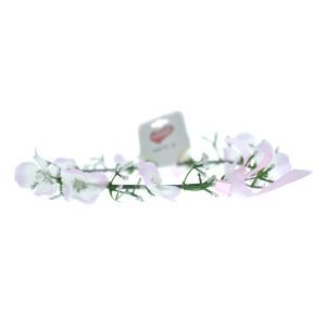 זר יום הולדת לראש עם פרחים-ורוד