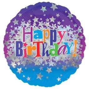 בלון מיילר 18- יום הולדת שמח אנגלית כוכבים