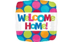 "بالون 18"" welcome home مربع"