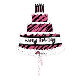 בלון מיילר 26- יום הולדת עוגה שכבות רמה 2