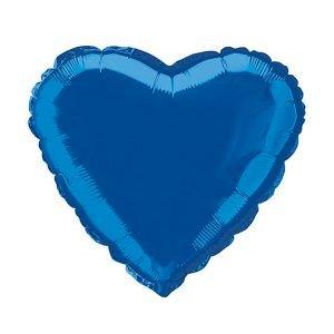 בלון מיילר 18 - לב כחול נייבי