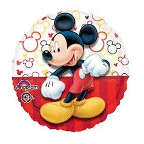 """بالون 18"""" ميكي ماوس احمر وابيض"""
