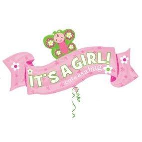 """بالون 26"""" اعلان  it's a girl"""