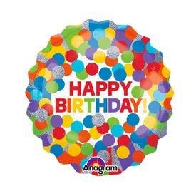 בלון מיילר 28-יום הולדת מנוקד צבעוני