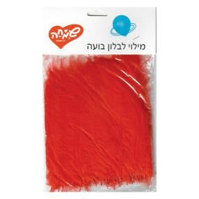 מילויים לבלון בועה- נוצות- אדום