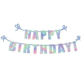 באנר אותיות לתלייה-happy birthdayכסוף מתחלף