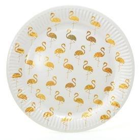 צלחות נייר 20 10 יח- פלמינגו זהב