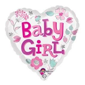 """بالون 18"""" بنت قلب babygir"""