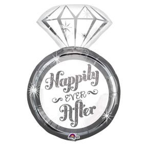 "بالون 26"" happily ever after خاتم زواج"