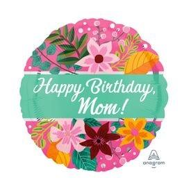 בלון מיילר 18-happy birthdaymomפרחים