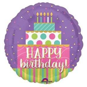 בלון מיילר 18- יום הולדת שמח עוגת יום הולדת
