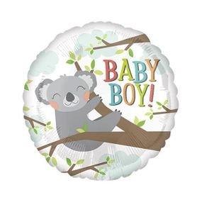 """بالون 18"""" ولادة ولد babyboy كولا"""