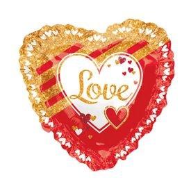 """בלון מיילר 28""""- i love u אדום זהב"""