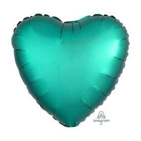 """بالون 18"""" قلب اخضر غامق خروم"""