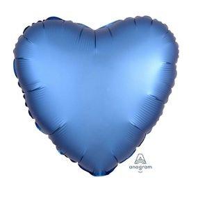 """بالون 18"""" قلب ازرق خروم"""