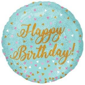 בלון מיילר 18- יום הולדת קונפטי הולוגרפי