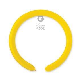 בלון נקניק 260 איטלקי צהוב 02 - 100 יח