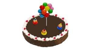 קישוט עוגה - ליצניםעם בלונים